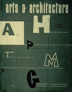 Arts And Architecture. Cover design by Ray Eames