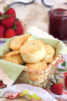 The easiest, fluffiest, most tender cream biscuit recipe ever!  Made with just 2 simple ingredients, this is your new favorite biscuit. | @suburbansoapbox