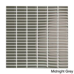 For kitchen backs-plash. Emrytile Vetro 12x12 Straight Brick Mosaic Sheets (Pack of 10) | Overstock.com Shopping - The Best Deals on Wall Tiles