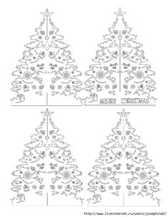 Kirigami - Papercutting- Christmas tree pattern