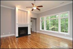 Little darker walls but good! Types of Interior Columns | NC New Custom Homes