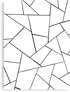 'Black White Geometric Glam Canvas Print by anitabellajantz Geometric Wall Paint, Geometric Drawing, Geometric Lines, Stained Glass Patterns, Mosaic Patterns, Color Palette Challenge, Diy Wall Painting, Bedroom Wall Designs, Pattern Coloring Pages