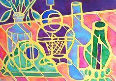 Art Lesson 4 6th grade Acrylic or watercolor