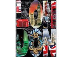 Puzzle Educa Collage de Londres 1000 Piezas
