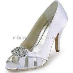 Peep toe Satin Rubber sole Wedding shoes www-miamastore-com verdi