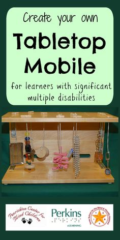 Create your own Active Learning tabletop mobile for students with significant multiple disabilities. Sensory Activities, Classroom Activities, Learning Activities, Sensory Toys, Teaching Ideas, Multiple Disabilities, Developmental Disabilities, Learning Disabilities, Visually Impaired Activities