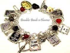 Vintage Paris Charm Bracelet Jewelry French by baublesbeadsncharms