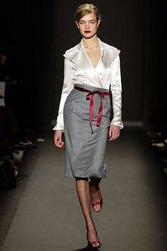 Carolina Herrera Fall 2003 Ready-to-Wear Fashion Show - Natalia Vodianova, Carolina Herrera