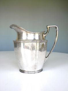 Andover Silver Plate Pitcher Serving Water by MustyMusts on Etsy, $16.00