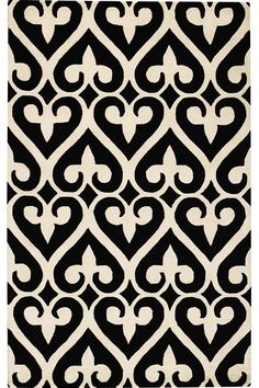 Spades Wool Area Rug