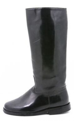"Reto Womens Boots Size 6 height 14"" Calf 12"" field dress equestrian riding black #Reto #RidingEquestrian #style #fashion @ebay"