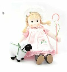 """Little Bo Peep Musical Doll by Green Tree Products. $25.95. Wind up musical doll. Head gently moves to the music. Size : 8"""" tall. Around 6"""" when Sitting. Wonderful keepsake and collectible. Play """"Mary had a little lamb"""". Brand new in the box. Plays: Mary Had A Little Lamb"""