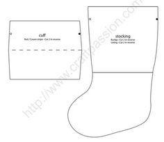 Moldes gratis para hacer botas navideñas de fieltro07