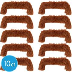 Feeling Groovy Moustaches 10ct - Party City