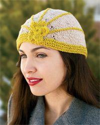 This knit hat pattern has a unique, vintage style.