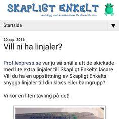 Tävlingsdags för skolor och elever! Gå in på www.skapligtenkelt.se och fixa linjaler till klassen 👌👌#tävling #instagood #tävla