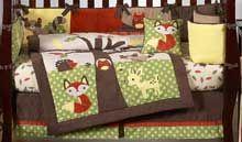 forest nursery theme | Forest Animals Baby Crib Bedding - Forest Nursery Decor