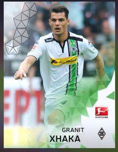Granit Xhaka Borussia Mönchengladboch (Bundesliga) Silver Parallel Card 2016 Topps KICK