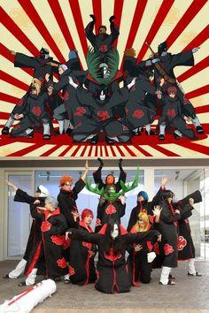 Naruto Akatsuki all members group Cosplay