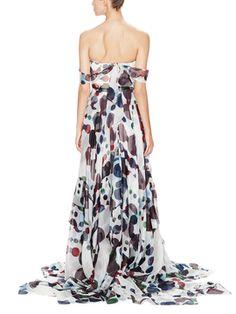 Silk Chiffon Off the Shoulder Gown from Carolina Herrera on Gilt