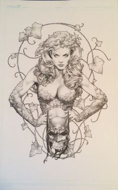 Poison Ivy By Jay Anacleto Comic Art