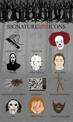 Signatures from Horror movies