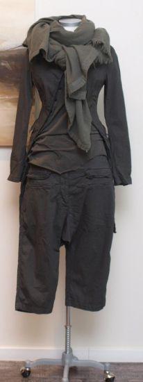 rundholz dip - Hose 7/8 Cotton Stretch oil silver dust - Sommer 2014 - stilecht - mode für frauen mit format...