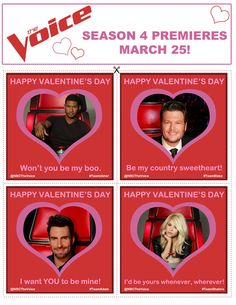 CLICK to print out these Voice-ntine's! Give them to someone who pushes all your buttons! #TheVoice #ValentinesDay