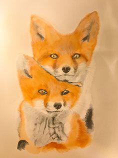 Foxy Pair #art #watercolour #fox