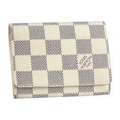Cheap LV Business Card Holder Damier Azur Canvas N61746 Louis Vuitton Sale 91792654543a3