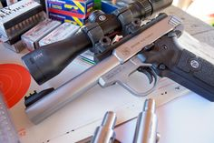 Review: Smith & Wesson Victory .22 LR Pistol, I tested accuracy with both the factory match barrel and the Volquartsen fluted barrel.