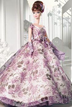Barbie silkstone Violette - platinum - 2005 - rara - nrfb