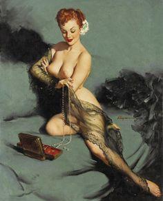 Gil Elvgren - Fascination - 1952 - Vintage Pinup Girl