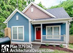 Tiny House Plan 11793HZ Under 1,400 square feet 3 beds Totally Cute