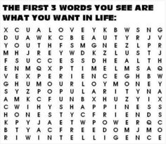 What Words Do You See First? | Snap!