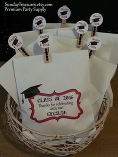 Qty 25 GRADUATION Favor Bags with 25 Matching di SundayTreasures