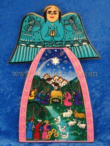 Angelic Ceramic Wall Art Nativity - Mexico