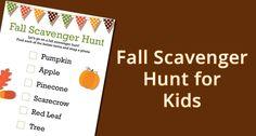 Fall Scavenger Hunt for Kids #fall #scavenger_hunt #kids - Featured on Digital Mom Blog