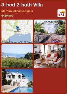 3-bed 2-bath Villa in Moraira, Alicante, Spain ►€420,000 #PropertyForSaleInSpain
