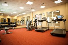 Get in your daily workout at the complimentary Stay Fit® Fitness Center. It is equipped with state-of-the-art equipment and stays open 24 hours per day so that you can enjoy the use of the fitness center at your convenience!     6