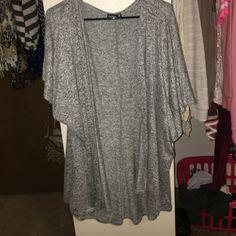 Oversized short sleeve cardigan Worn once! Great condition!! Popular Basics Sweaters Cardigans