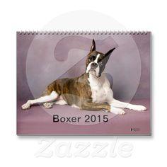 Boxer 2015 Calendar | Zazzle