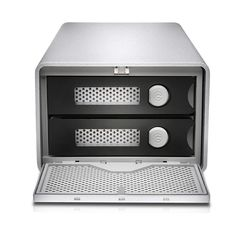 A professional high-performance dual-drive storage system. Configurable in RAID 0, RAID 1, or JBOD, G-RAID features USB 3.0, eSATA, and FireWire for ultimate flexibility. G-RAID ships with two removable 7200RPM hard drives up to 12TB, complete in an all-aluminum enclosure.With transfer rates up to 330MB/s, G-RAID easily supports playback of multiple HD video streams. It is the ideal storage solution for video & photo editing with the leading editing applications, or simply for safe-...