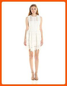 BB Dakota Women's Elissa Lace Fit-n-Flare Dress, Ivory, 10 - All about women (*Amazon Partner-Link)