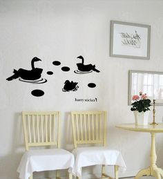 wallsticker birds-play-pond Wallpaper interior Design