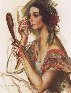 Artist: Zinaida Serebriakova    Completion Date: 1924    Style: Realism    Genre: portrait    Tags: female-portraits