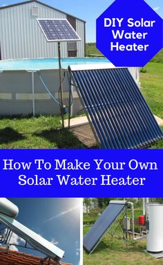 Discover thousands of images about Solar Water Heater. Building your own solar water heating panel is not beyond anyone with basic DIY/handyman skills, and no specialist tools or equipment are required. Learn how to make your own solar water heater. Solar Energy Panels, Best Solar Panels, Solar Energy System, Solar Water Heating System, Solar Projects, Energy Projects, My Pool, Solar House, Solar Panel System