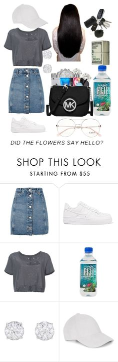 """""""🎐"""" by xana-hoe ❤ liked on Polyvore featuring Topshop, NIKE, Unravel and Chloé"""