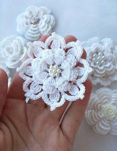 Crochet flowers (7pcs) #crochetedflowers