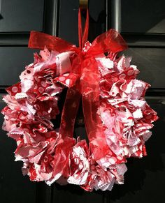 Valentine's Fabric Wreath $35